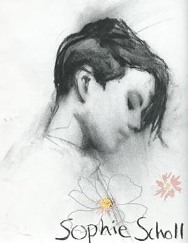 Sophie Scholl/ Graphik: Veronika-Marie Eckl