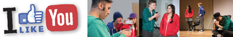 """Theater EUKITEA """"I Like You!"""" - ein mobiles Theaterprojekt zur Prävention von Cybermobbing für Jugendliche von 13-16 Jahren"""